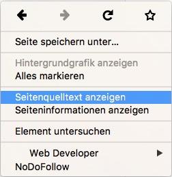 Browser Quelltext anzeigen