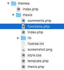 functions.php im Theme-Verzeichnis von WordPress