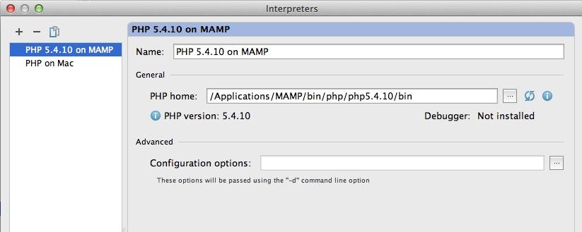 PHP 5.4 in PHPStorm einrichten