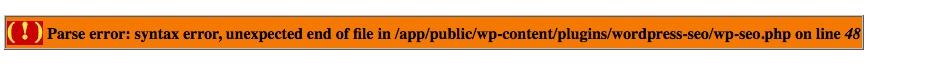 PHP-Parse Error in WordPress