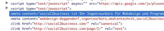 HTML Header (geöffnet)