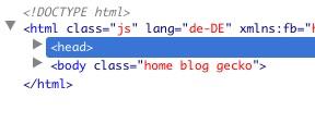 HTML-Header