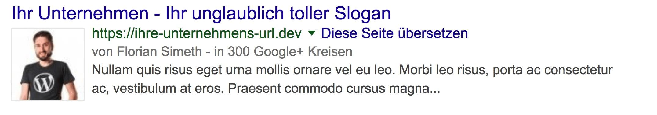 Rich Snippet Suchtreffer bei Google