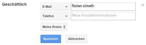Google+ Mail erfassen