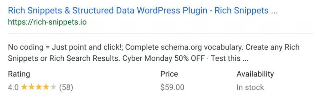 Strukturierte Daten Beispiel: Ein Product Rich Snippet